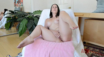 Solo shaved fingering, Chubby ass solo