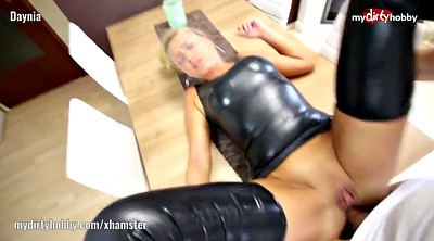 Latex, Huge, Anal creampie, Cum facial