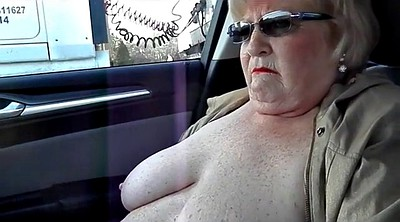 Nude, Car flash, Flash granny, Car flashing, Nude in public, Granny masturbation