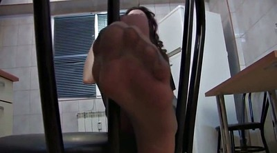 Leather, Nylon foot, Pantyhose foot, Foot fetishism