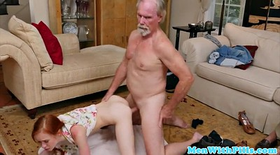 Big cock, Mouth, Grandfather, Blow cum