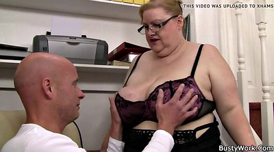 Office, Fatty, Big boob, Office sex, Huge boobs