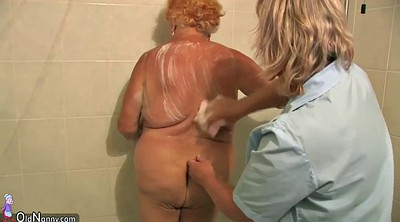 Bbw granny, Mature shower