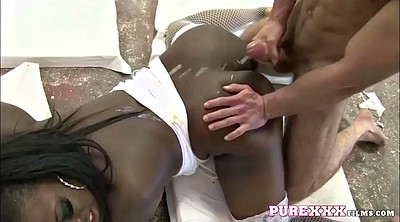 Chubby brunette, Interracial missionary