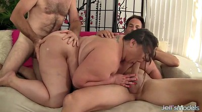 Double, Bbw anal, Kiss, Fatty