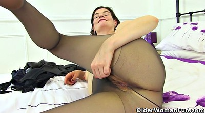Hairy dildo, Mature dildo, British mature