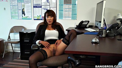 Leggings, Clothed lingerie, Asian office, Seduced