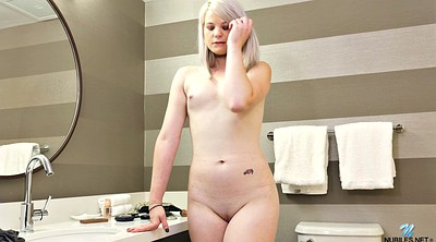 Flat, Solo shower, Flat chested, Cunt