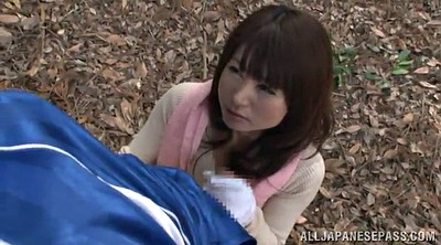 Outdoor handjob, Asian handjob