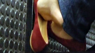 Footing, Candid, Subway, Teen foot, Sole, Fetishism