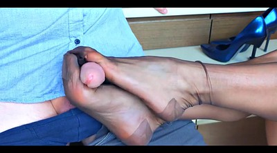 Foot, Nylon footjob, Stocking, Nylon foot, Nylon feet