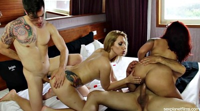 Couple, Motel, Swingers party