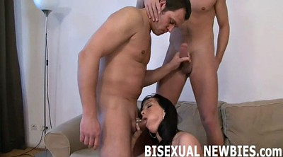 Threesome ass licking
