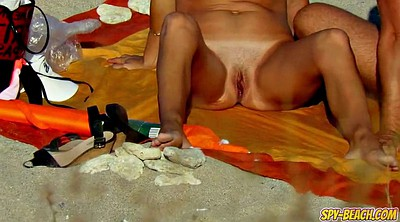 Close up pussy, Nude beach