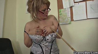 Office granny, Sexy milf, Mature office, Granny office