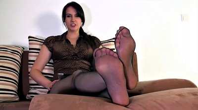 Nylon feet, Nylon foot, Polish, Nylon feet cum, Nylon cum, Mother foot