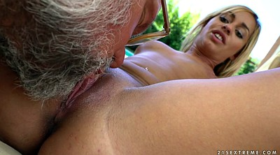 Granny pussy, Young and old, Old cum