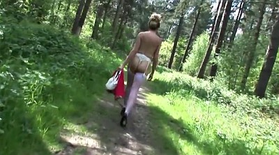 Mature lady, Forest