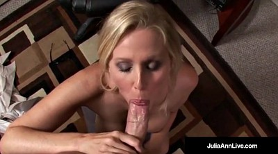 Julia ann, Julia, Mature office, Big tits mature, Pov mature, Office blowjob