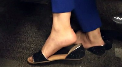 Candid, Sandals, Shoeplay, Candid feet, Feet fetish