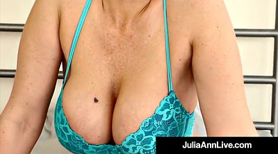 Julia ann, Mature stocking, Mature nylon, Anne, Bra, Pantie tease