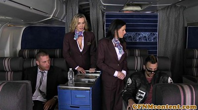 Foursome, Uniform, Stewardess, Foursome milf