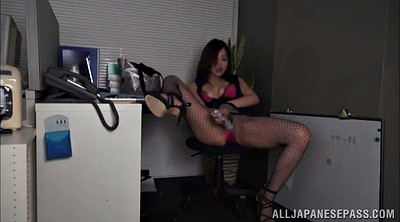 Model, Hypnotized, High heels, High, Asian office, Heels solo
