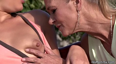 Mom outdoor, Mature lesbian