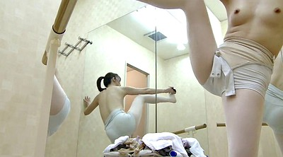 Japanese, Ballerina, Japanese voyeur, Changing, Spying, Change