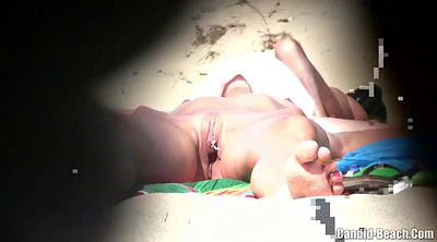 Big clit, Nudists, Hidden beach