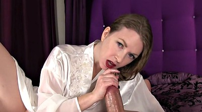 Satin, Silk, Mom handjob