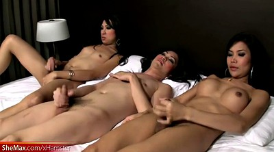 Full, Tugging, Shemale gangbang, Shemale and girl, Black girls