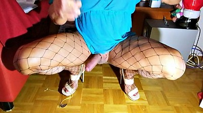Crossdresser, Highheel, Stocking shemale, Shemale pantyhose