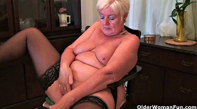 Cougar, Sandy, Granny masturbation, British granny