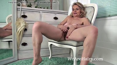 Hairy mature, Pussy show