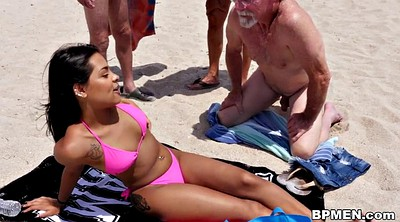 Beach, Nikki sex, Granny gangbang, Old men, Latina granny