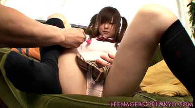 Footjob, Sock, Japanese schoolgirl, Japanese footjob, Japanese feet, Socks feet