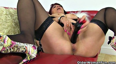 Huge dildo, Uk milf, Christina, British milf