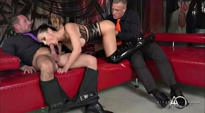 Aletta ocean, Leather, Leather fetish, Double penetrated, Aletta, Ocean