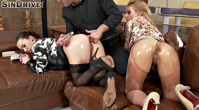 Pantyhose, Pantyhose fingering, Oil, Tiffany doll
