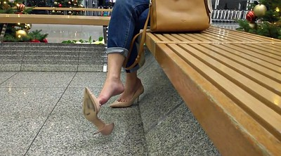 Mom foot, Shoe, Foot fetish, Foot mom, Dangling