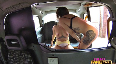 Car, Lesbian strap on, Face sitting orgasm, Driver