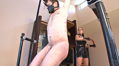 Latex, Whip, Femdom whipping, Male slave, Male, Mistress whipping