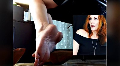 Sounding, Sound, Red head, Feet face, Beautiful milf, Beautiful foot