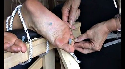 Mature foot, Needles, Needle, Mature feet, Bdsm extreme