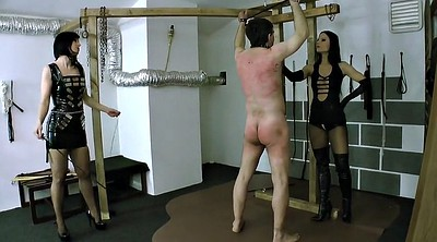Whip, Whipping, Whipped, Femdom bdsm, Two slaves