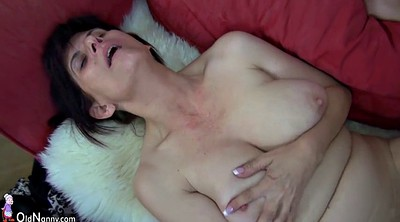 Mature masturbating, Granny strapon