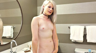 Bathroom, Shower solo, Flat chested, Flat, Solo shower, Shaved solo