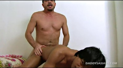 Father, Old and young, Insertion, Asian feet, Young gay, Old father