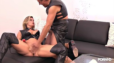 Milf, Leather milf, German fist